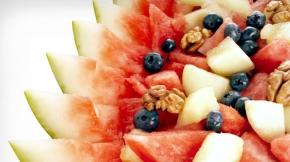 Blueberry, watermelon and walnut salad